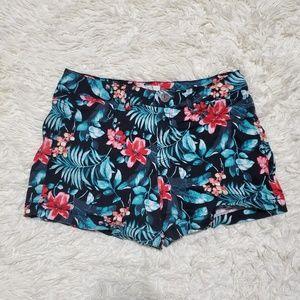 SO Floral/Tropical Vibrant Denim Shorts